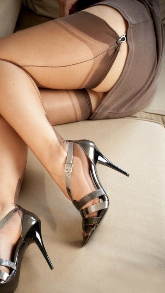 Stilettoheelsstockings blackstilettoheels