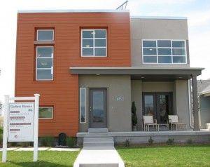 Combinar ladrillo y pintura en la fachada cerca amb - Pintura fachada exterior ...