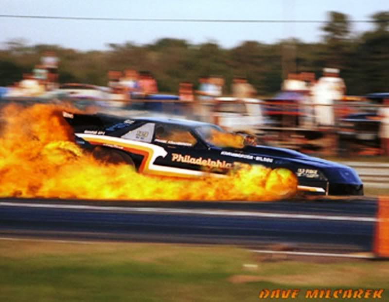The Nhra Funny Car Driven By Jim Head Of Columbus Oh Exploding