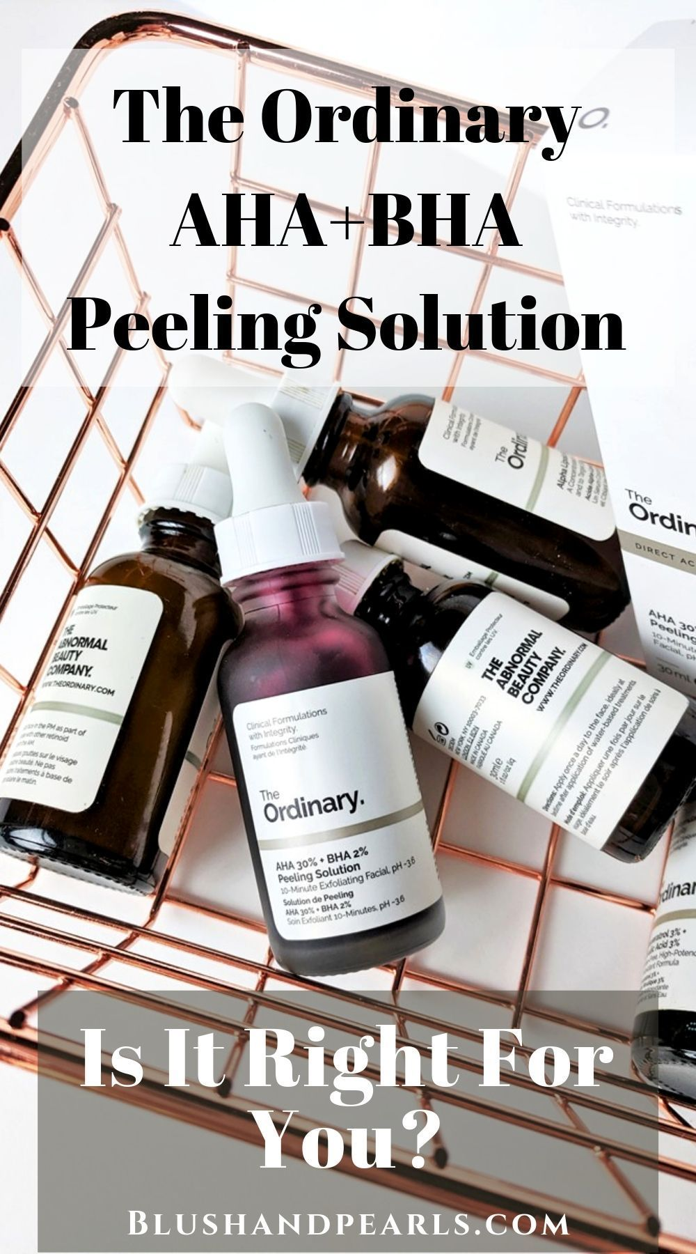 The Ordinary Aha 30 Bha 2 Peeling Solution Complexion Miracle Worker Blush Pearls In 2020 Facial Peel The Ordinary Peeling Solution The Ordinary Aha 30