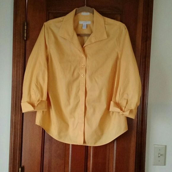 Chico S No Iron Blouse Cotton Blouses Bright Yellow And Iron