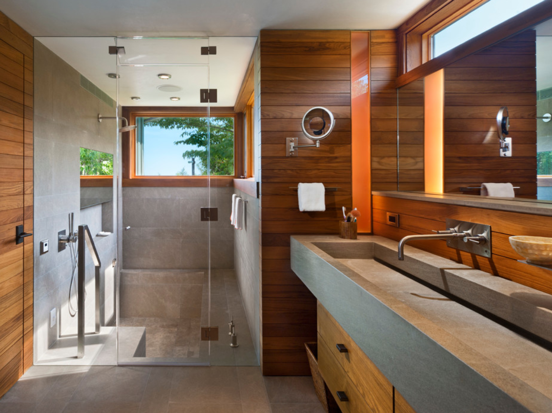 Bathroom With Step Down Shower Bathroom Design Modern