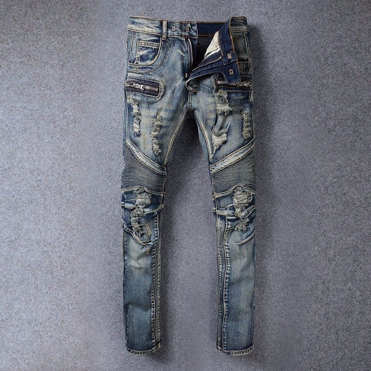 59ff4007f4a Ripped BALMAIN Men JEANS via JQ online store. Click on the image to see  more!