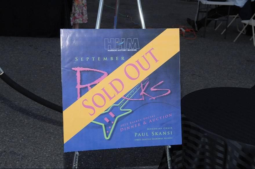 """The Basket Social took on a new name in 2012, advertised as """"History Rocks Dinner and Auction."""" """"History Rocks"""" was held on Sept. 22, 2012 at the Tacoma Narrow Airport in Gig Harbor, Washington with the honorary chair of 1980s Seattle Seahawks Alum Paul Skansi. More pictures to come!"""