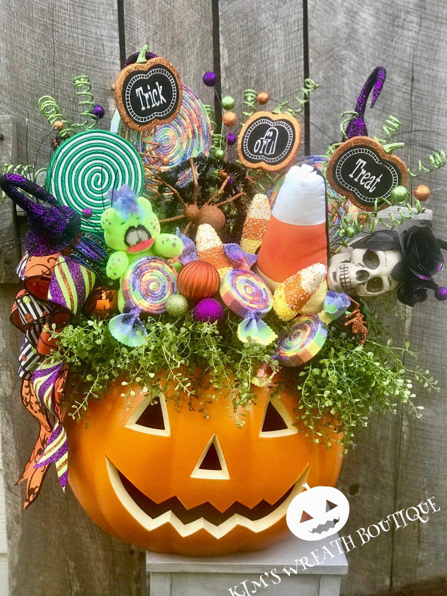 Pumpkin Centerpiece Halloween Centerpiece Pumpkin Decor Halloween Centerpiece Halloween Party Centerpieces Halloween Decorations