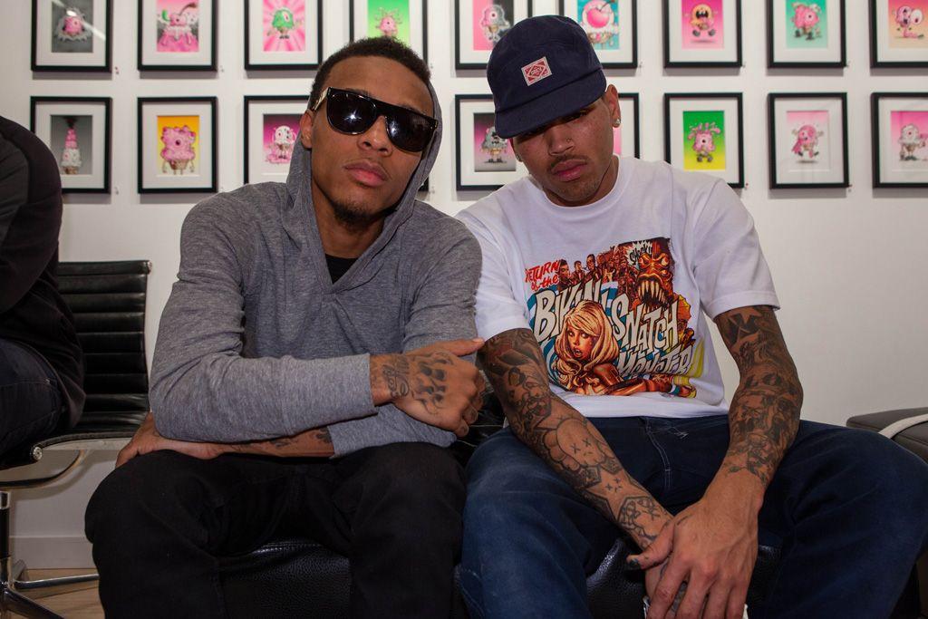 Chris Brown X Ron English Dum English Launch Recap Cory Helford Gallery Chris Brown X Chris Brown Product Launch