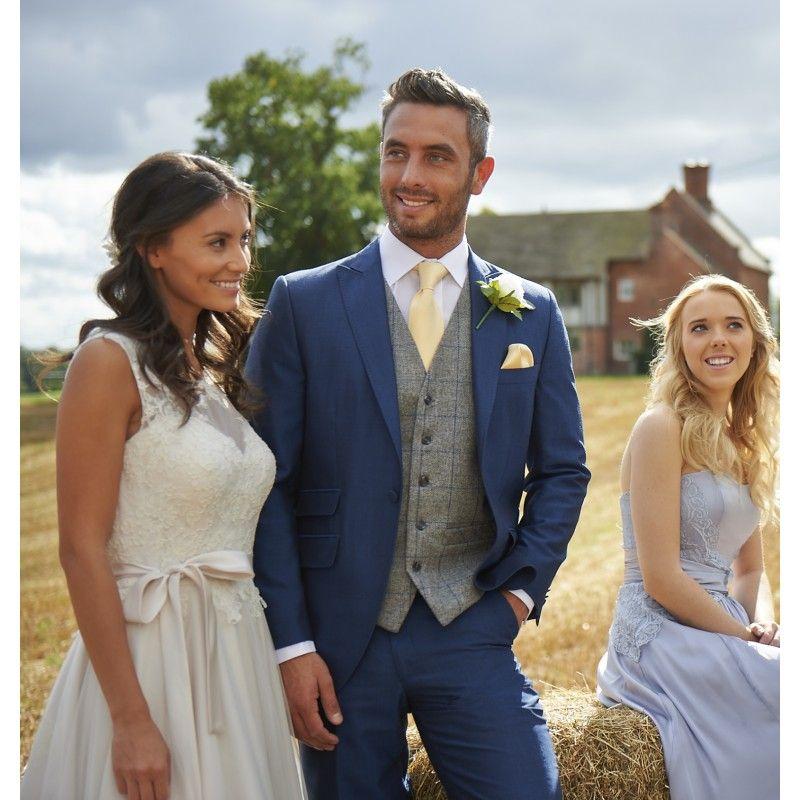 Tweed Grey / Royal Waistcoat (234) | Suits | Pinterest | Tweed ...