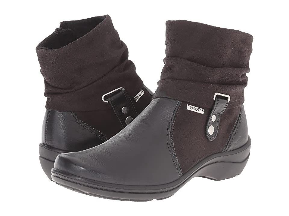 Romika cassie 12 black tropic womens dress boots