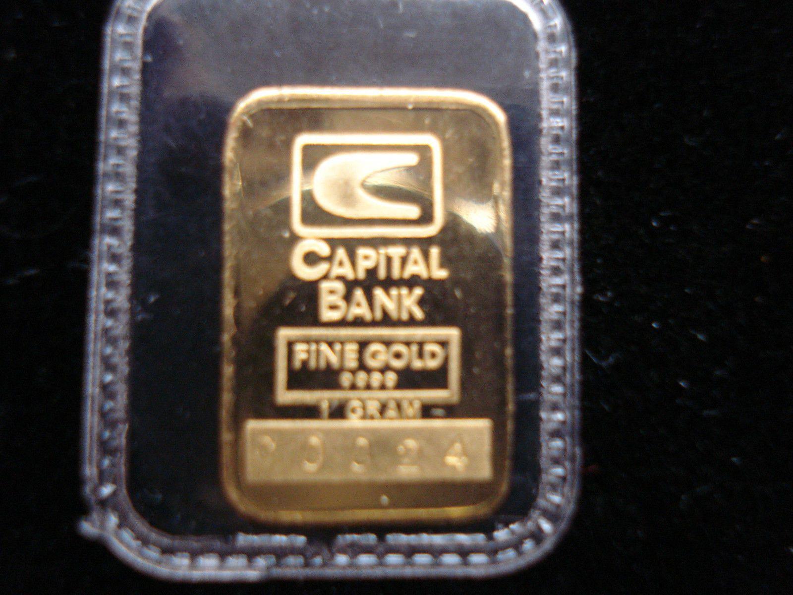 1 Gram Gold Johnson Matthey Capital Bank Bar Gold Precious Metals Bar