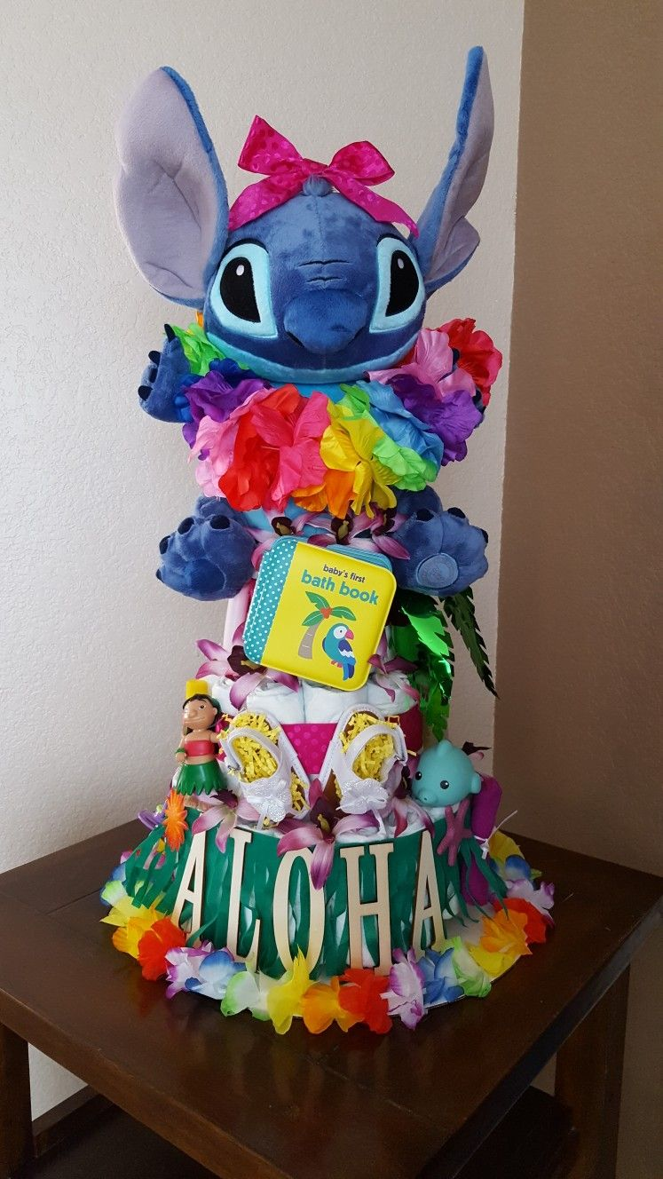 Lilo And Stitch Diaper Cake Made By Me Pinterest Diapers