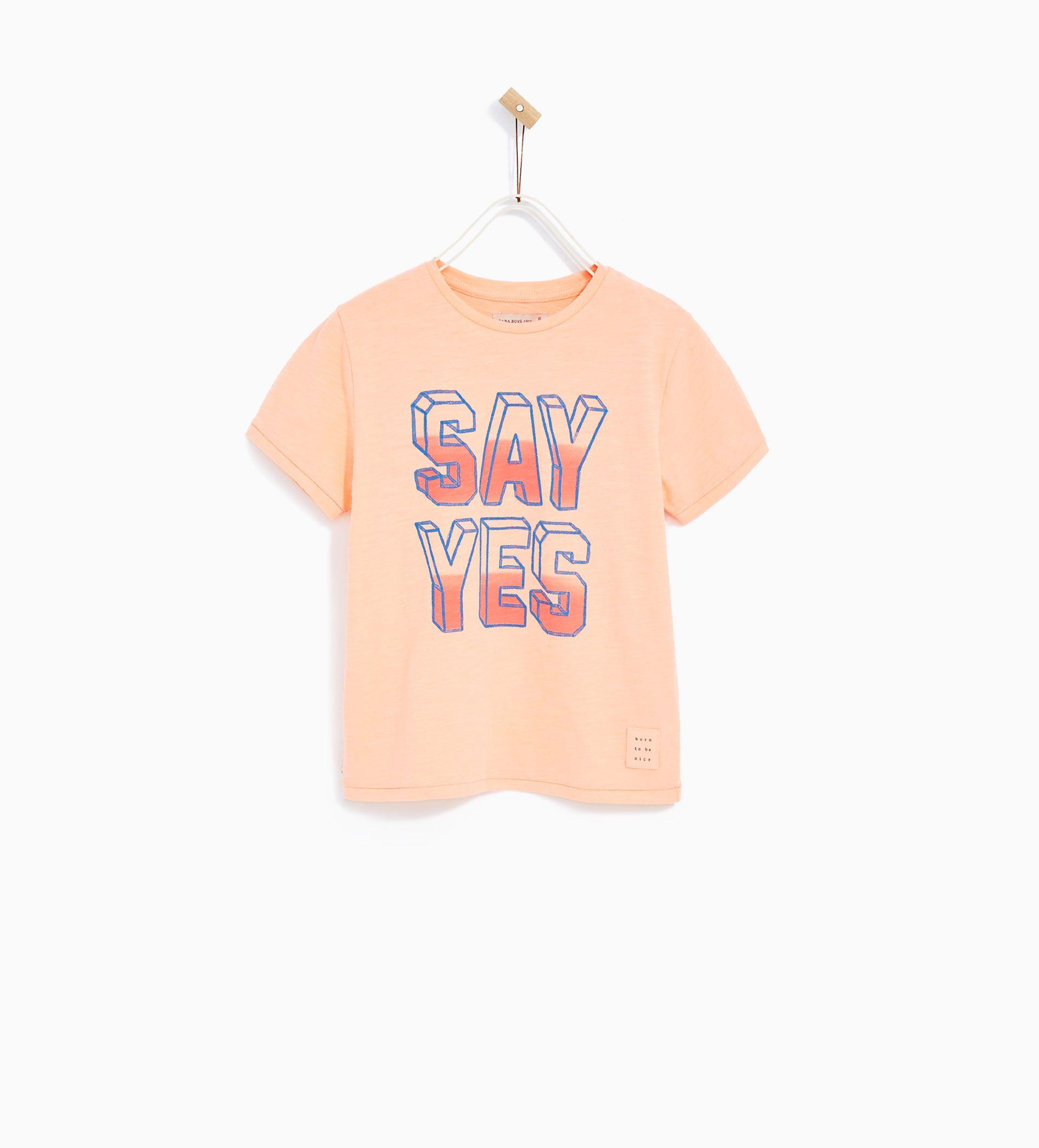 """CAMISETA """"SAY YES"""""""