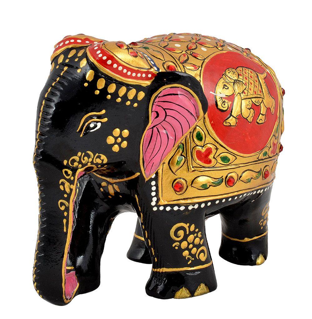 Indian Art Decor Hand Painted Beautiful Royal Elephant Statue Home Ornament Table Centerpiece Multipurpose Elephant Statue Elephant Statue Decor Elephant Decor