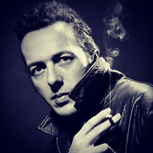 Joe Strummer, leader of The Clash, Photo: Steve Double