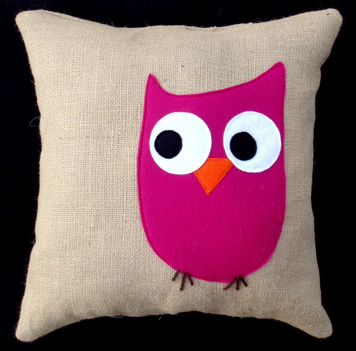 Pink Owl Throw Pillow COVER - Decorative Pillow Cover Natural ...