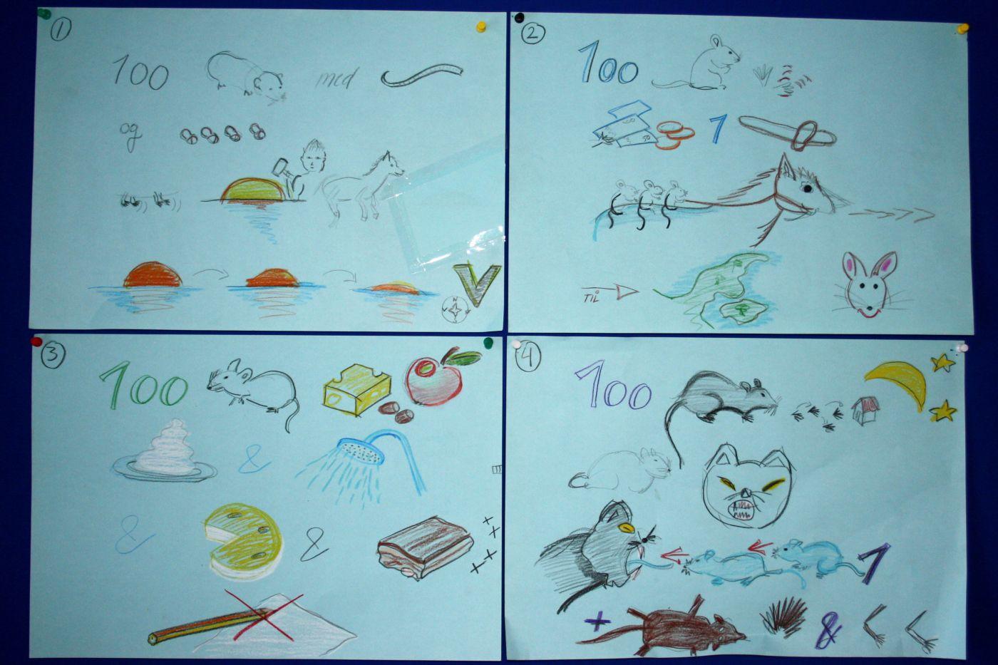 Hvis børnene ikke kan læse, er det en sjov idé at illustrere teksten, så de kan følge med i en ny sang.