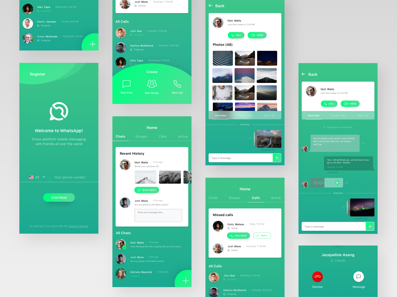 Whatsapp redesign concept App design, Website design