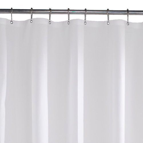 Maytex No More Mildew Shower Curtain Liner Frosty 073161895020 Heavy Duty 10 Gauge Vinyl Shower Curtain Liner Shower Curtain Curtains Vinyl Shower Curtains