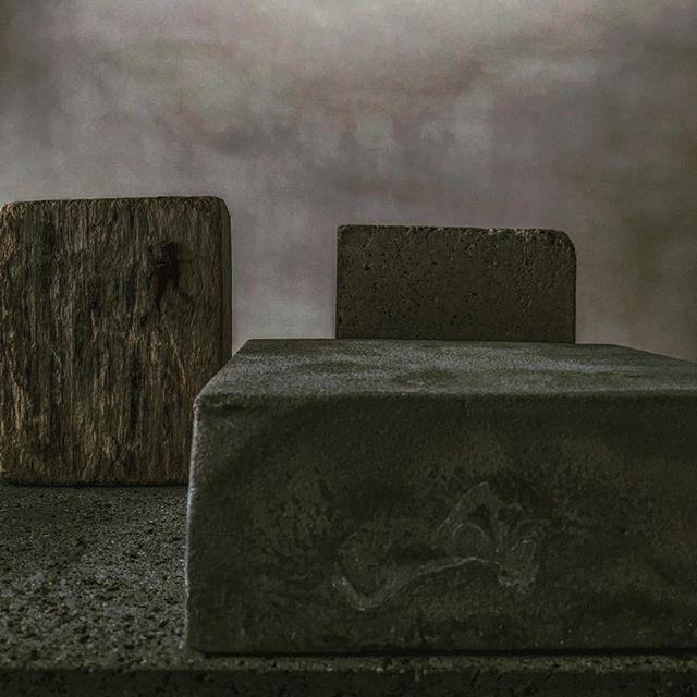 Basalt concrete zinc and wood .