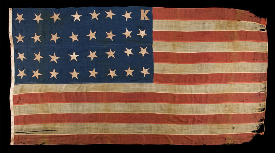 Unusual And Extraordinary 31 Stars Plus K For Bleeding Kansas Pre Civil War Flag Civil War Flags American Civil War Civil War