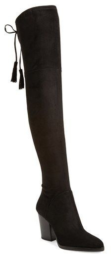 ecf8b54c934 Tassel embellished over the knee black boots. Women s Marc Fisher Ltd   Alinda  Over The Knee Boot