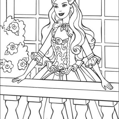 barbie and princess coloring pages free printable