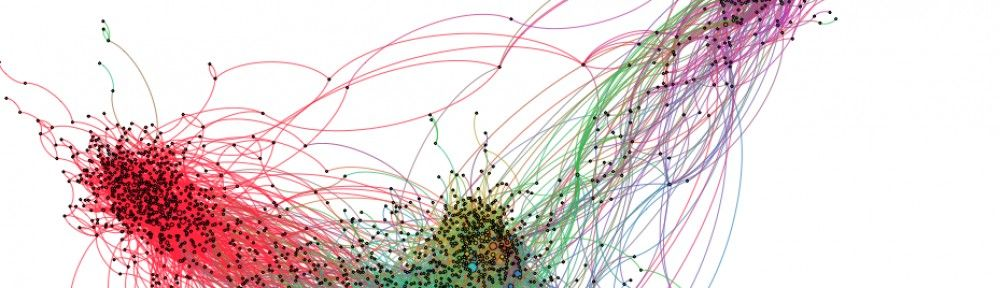created by Team Utrecht during the Occupy Data Hackathon; it's a visualization of 14 @reply networks from #Occupy related hashtags, visualized using Gephi.