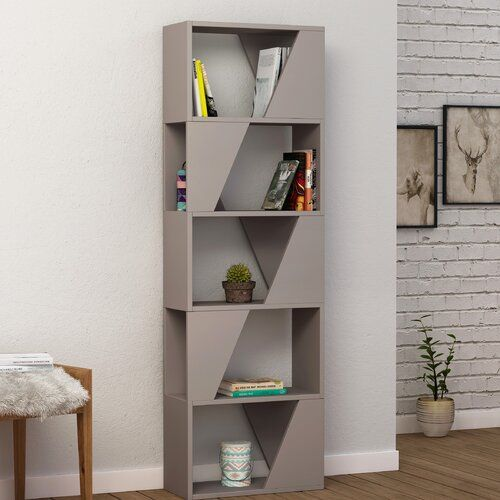 Esher Bookcase Orren Ellis Colour Light Moca Bookcase Home