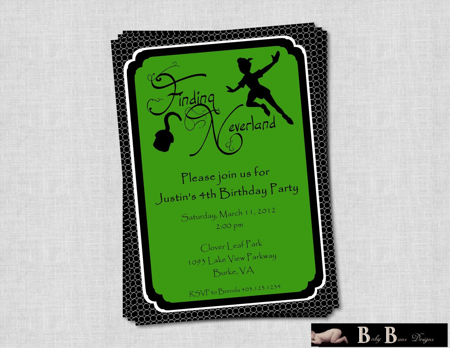 Neverland Birthday Party Invitation- Printable | Matthew\'s ...