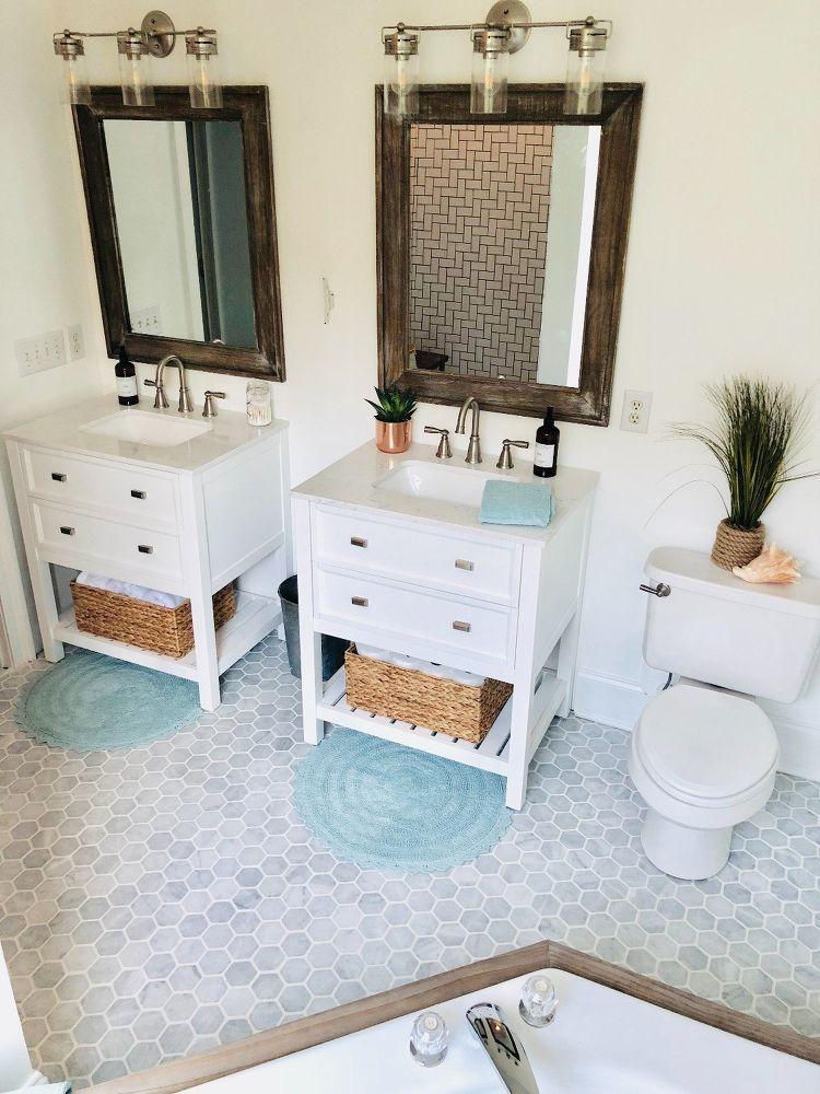 Coastal Farmhouse Bathroom Refresh Decorating Ideas Pinterest Magnificent Bathroom Refresh Decoration