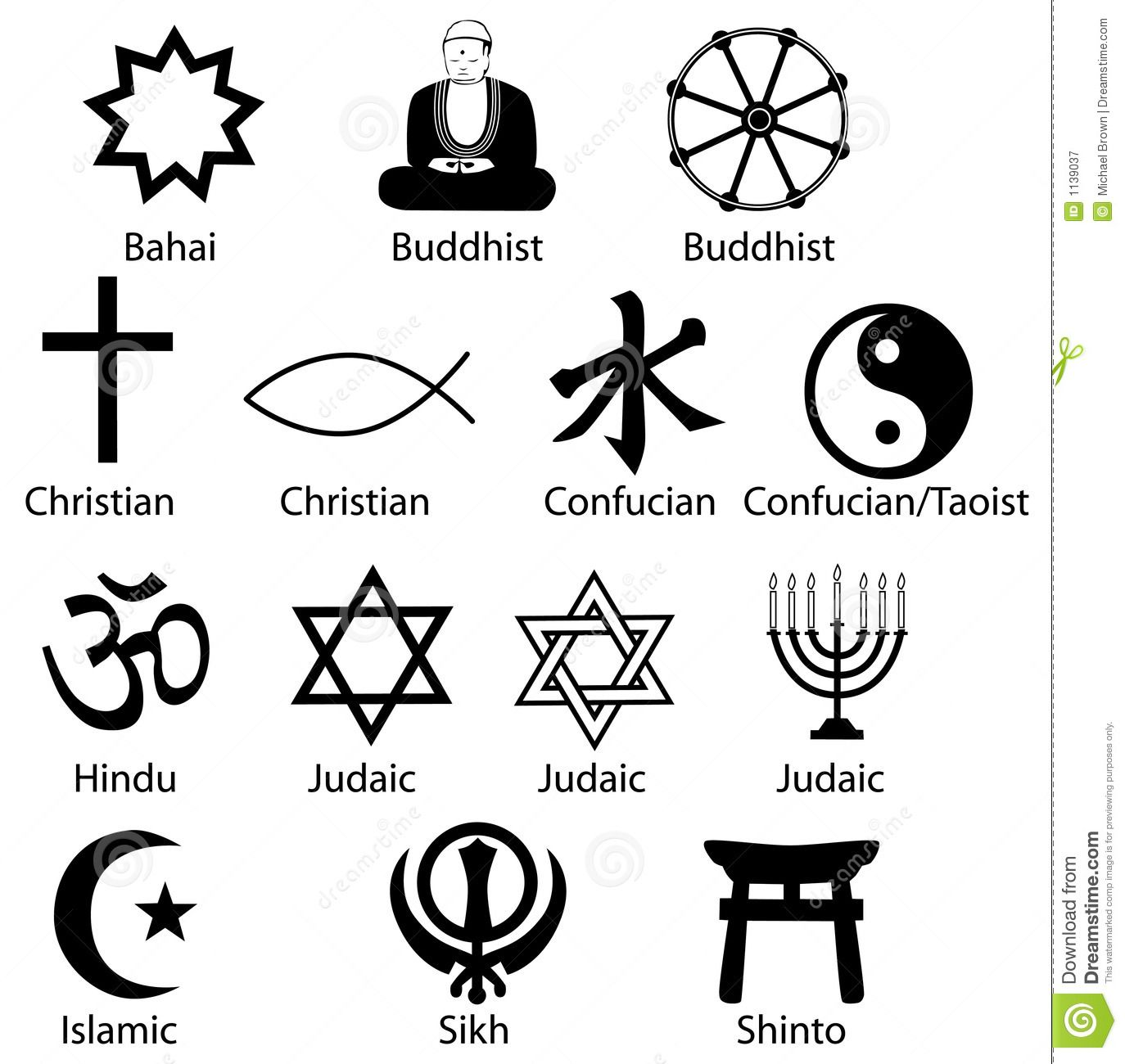 Religious Symbols Royalty Free Stock Photography Religion