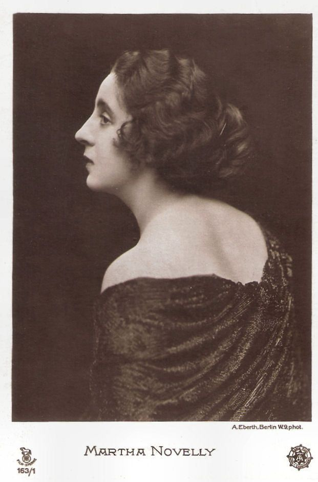 https://flic.kr/p/CtfmPZ | Martha Novelly | German postcard in the Film-Sterne series by Rotophot, no. 163/1. Photo: A. Eberth, Berlin / Astra Film.  Martha Novelly (1889-1972) was a German stage and screen actress who peaked in the German silent film of the late 1910s.   For more postcards, a bio and clips check out our blog European Film Star Postcards Already over 3 million views! Or follow us at Tumblr or Pinterest.