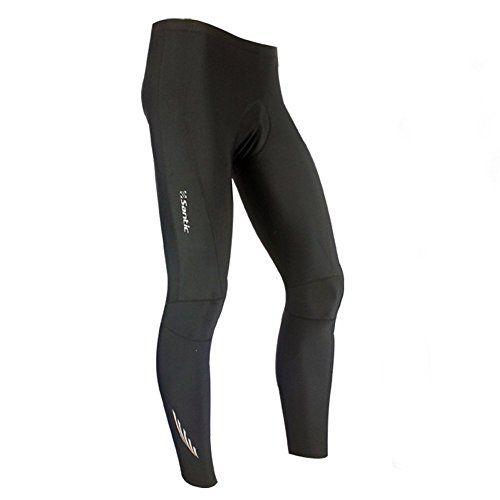 Santic Mens Cycling Tights Bicycle Long Pants 4D Coolmax Padded Black Size XXXL - http://ridingjerseys.com/santic-mens-cycling-tights-bicycle-long-pants-4d-coolmax-padded-black-size-xxxl/