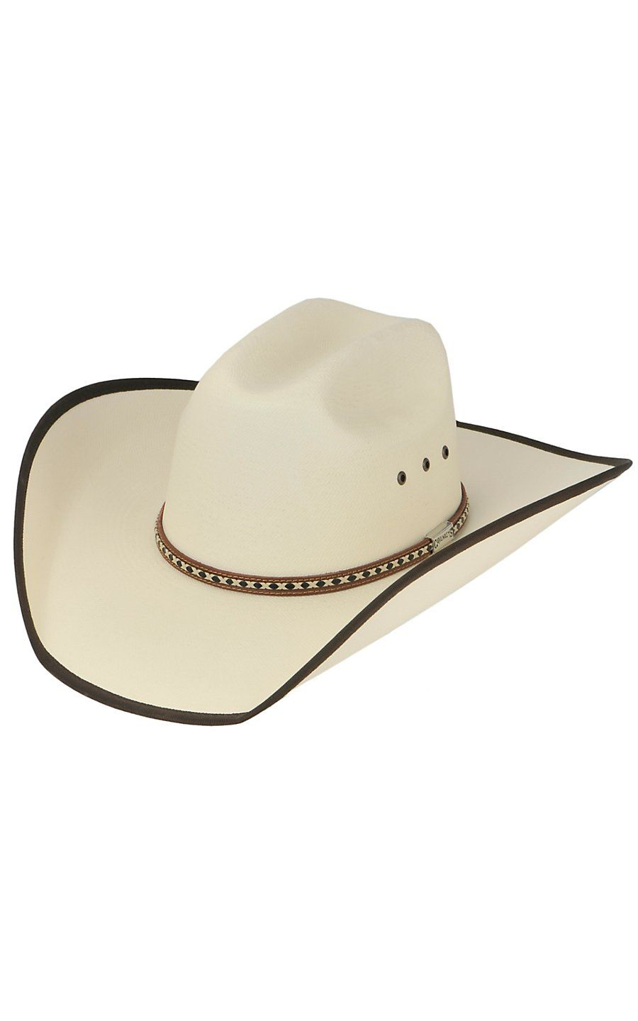 a66a77681e928f Cavender's Ivory Straw Bound Edge Cowboy Hat | Cowboy Hats & Caps in ...