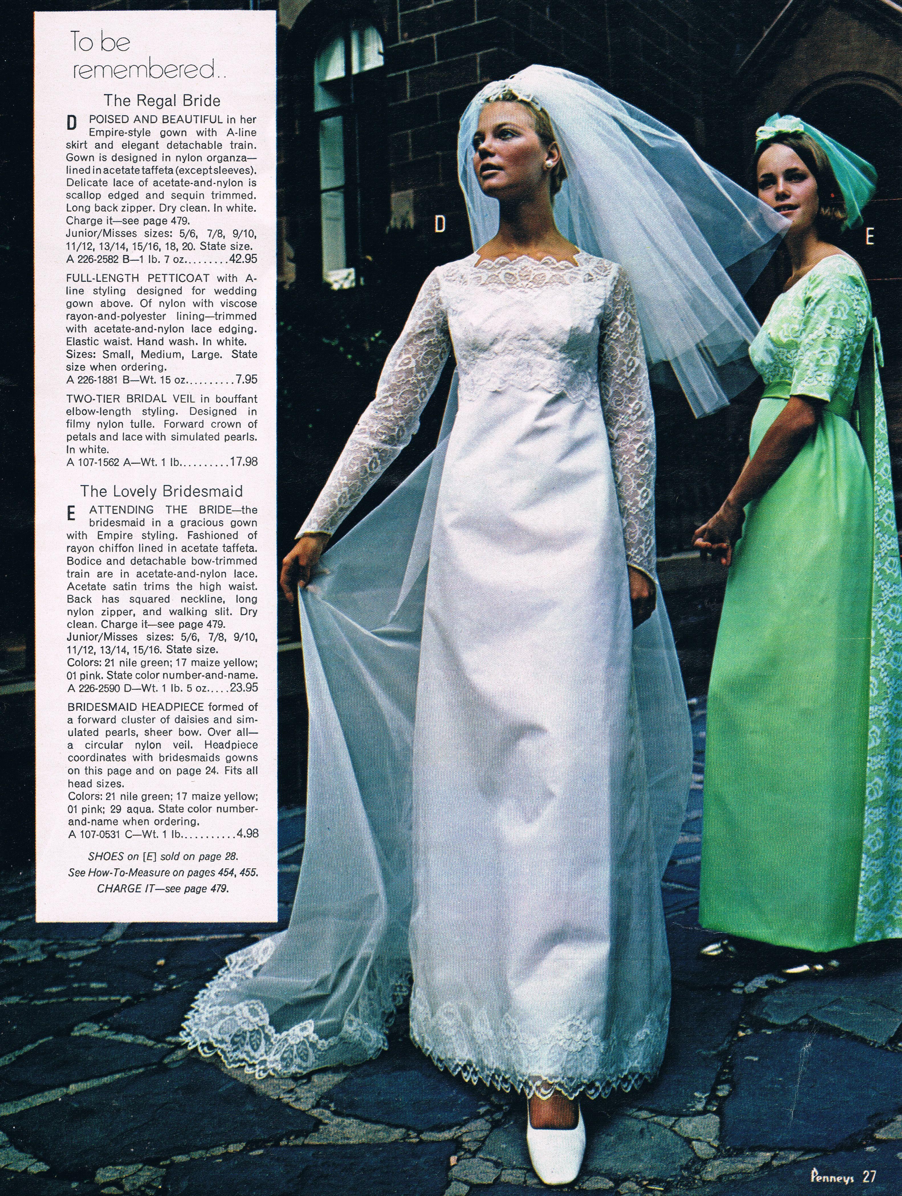 Penneys catalog 60s Lucy Angle bridesmaid | Cas\' wedding dress ...