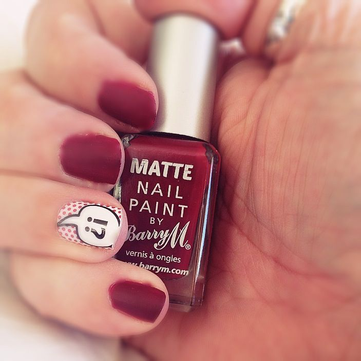 BarryM matte nail paint in crush ... Sig nail POW wraps New Look ...