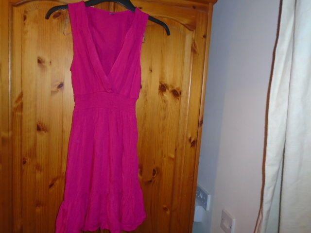 Pretty cerise pink sleeveless short sundress E-VIE size 8 #fashion #clothing #shoes #accessories #womensclothing #dresses (ebay link) #shortsundress