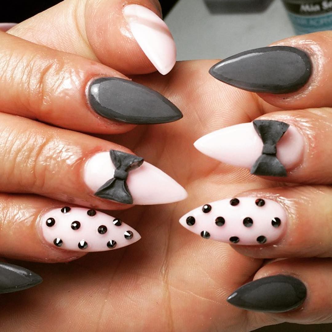 Baby pink and grey gloss with 3d nail art by thenailbarsydney baby pink and grey gloss with 3d nail art by thenailbarsydney http prinsesfo Gallery