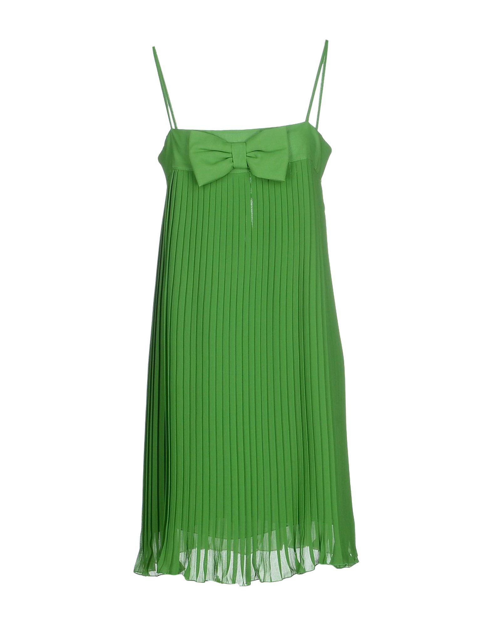 71d7a28e5c48 Twin Set   Green Short Dress   Lyst Women's Green Shorts, Short Green Dress,