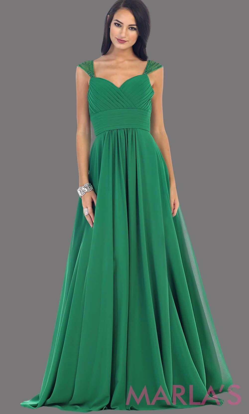 48e8f87990f7 Long Chiffon Dress with Sequin Wide Straps - Marla's Fashions - 3  #bridesmaiddresses #promdresses