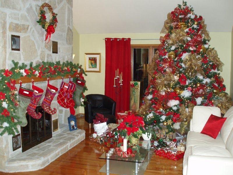 Como Decorar Tu Sala Para Navidad Sala De Navidad Decorar Salas Como Decorar La Sala