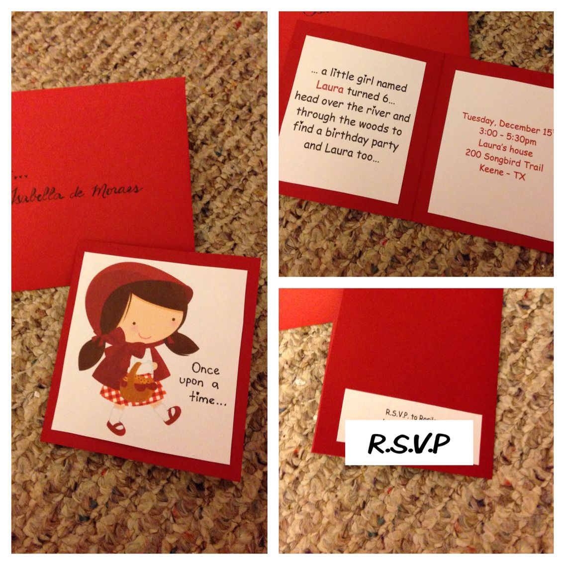 Little Red Riding Hood Invitation For My Daughter