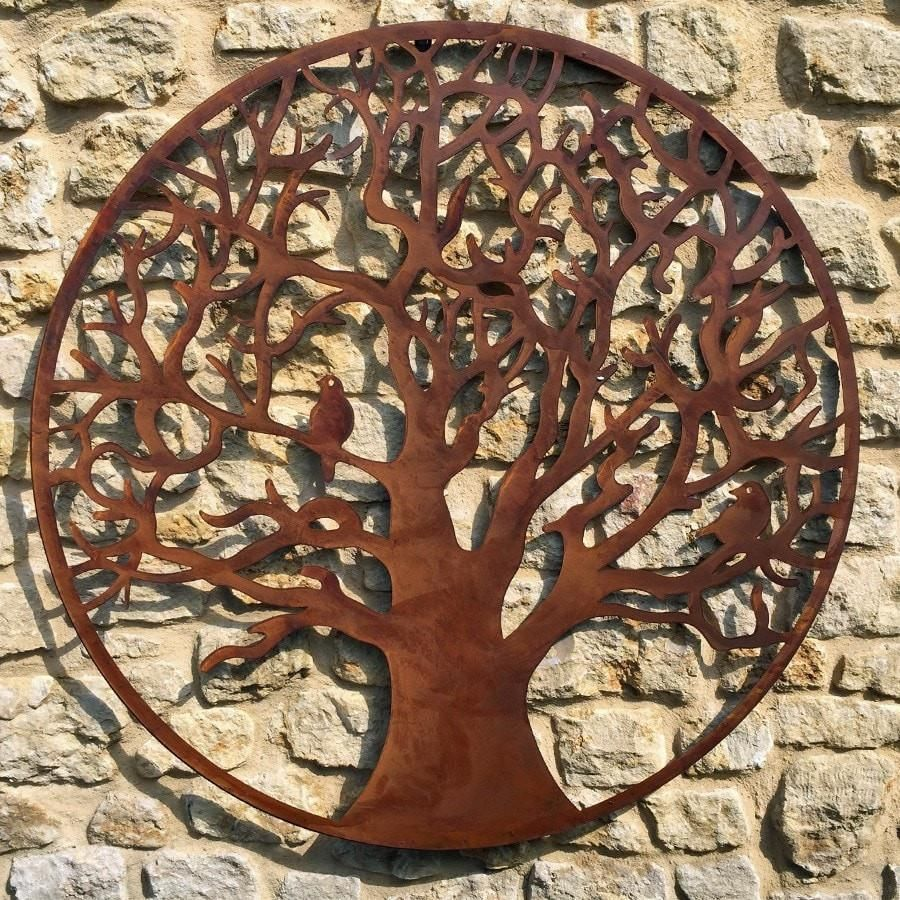 large rustic metal tree wall art from the farthing metaltree