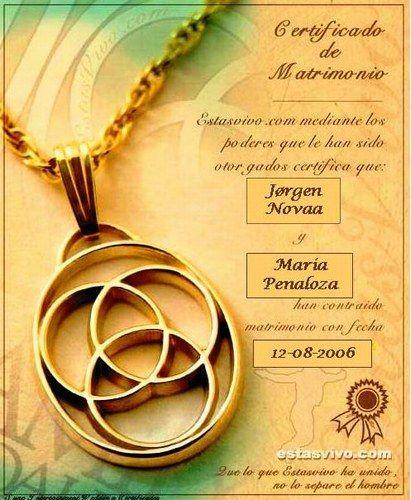 Acta De Matrimonio Simbolico : Mi boda quot jørgen marilú certificado de matrimonio