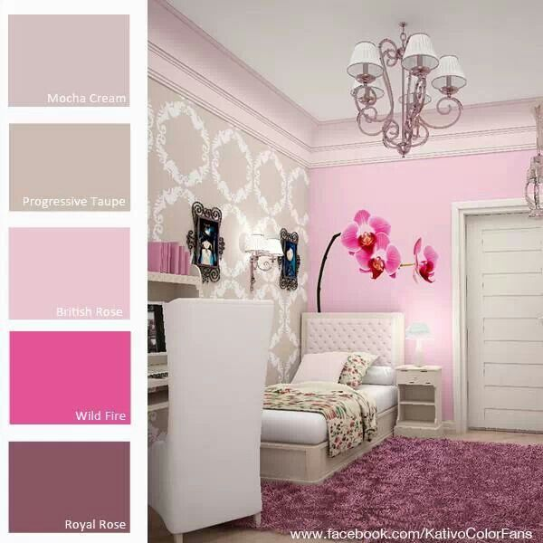 Paleta de color- Rosa ♡ paletas de colores Pinterest Room - Teen Room Decorating Ideas