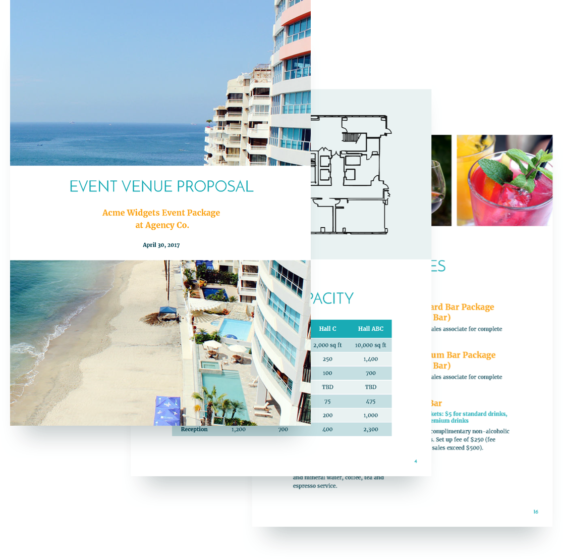 Event Venue Proposal Template Free Sample Hotel  Home Design Idea