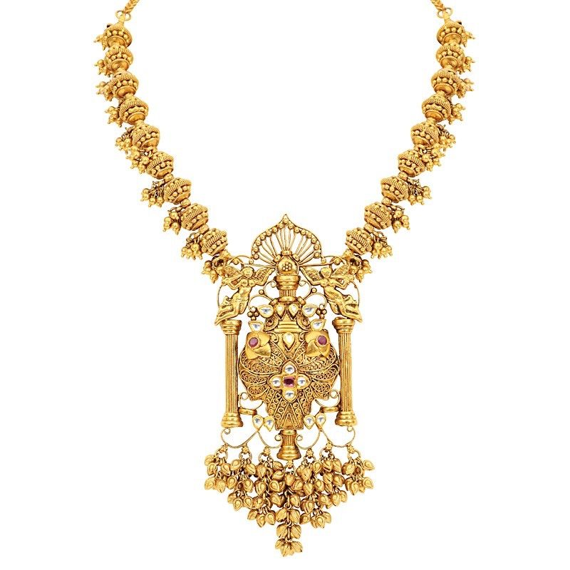 Gold Necklace brilliantcuT goldjewellery templejewellery bridal