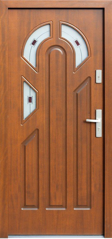 Exterior wooden doors with glass model 537s3f + ds1 in color …