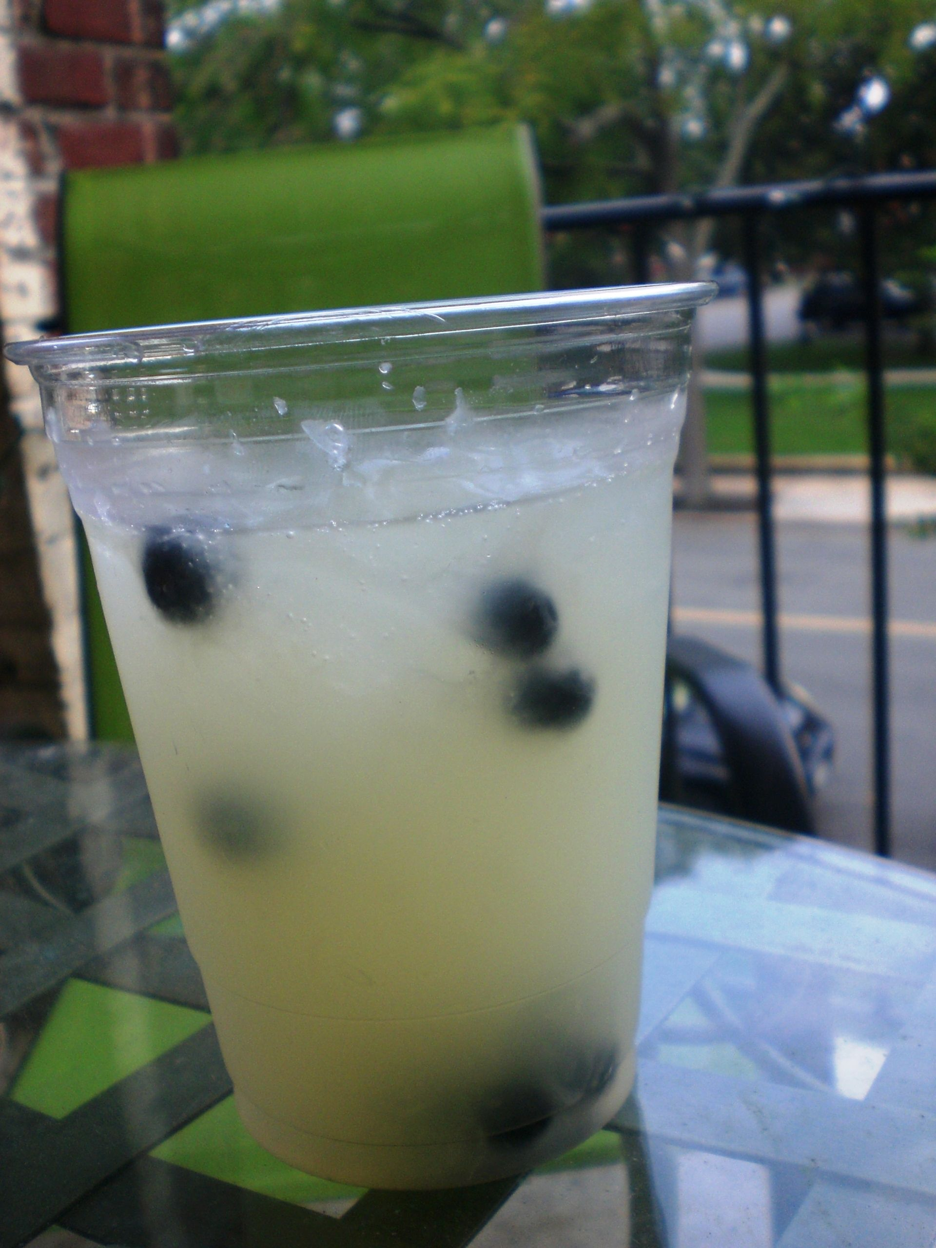Blueberry vodka lemonade for the adults at the 1st