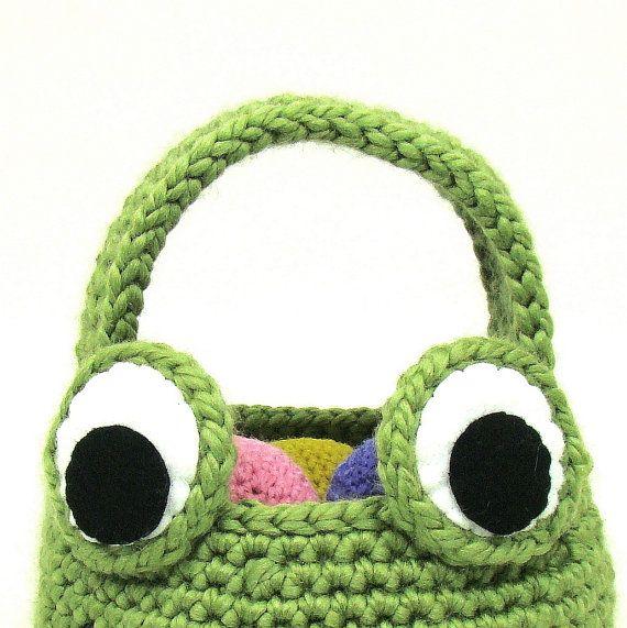 Easter Basket Frog Crochet Pattern PDF INSTANT DOWNLOAD on Etsy ...
