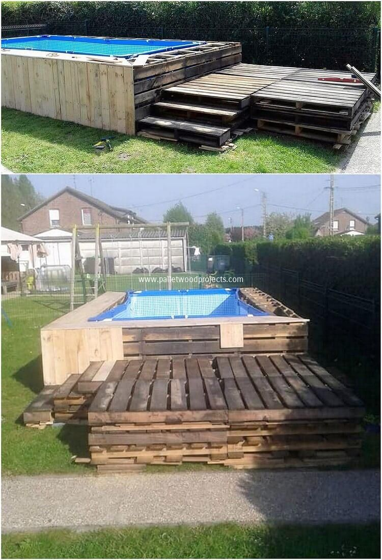 Lovely and Implausible Things Made with Old Pallets pool